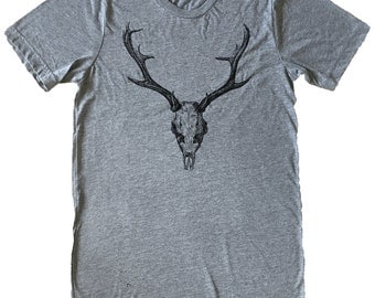 Deer Skull T-Shirt - Mens T-Shirt - Available in sizes S, M, L, XL