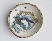 White Marble Jade + Brass Bracelet