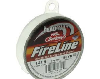 Fireline, 14 LB, 50 yard spool, Crystal