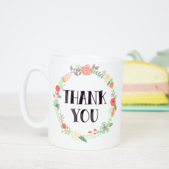 Thank you mug, lovely gift to say thank you