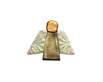 Golden angel brooch
