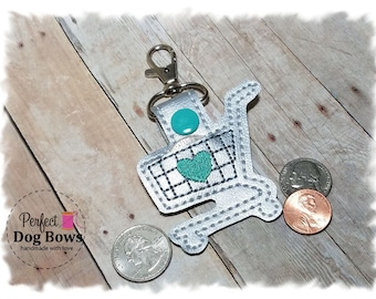 Quarter Keeper, Quarter Holder, Coin Holder, Shopping Cart Keychain, Key Fob Holder, Parking Meter Money