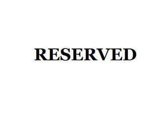 Reserved for clarissaspratley1