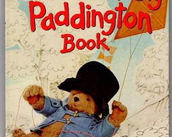 Paddington Bear Vintage 1976 Children's Book Great Big Paddington Book Color Illustrations Artwork by Ivor Wood Story by Michael Bond