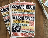 "set of ten stand up 4x6"" postcards"