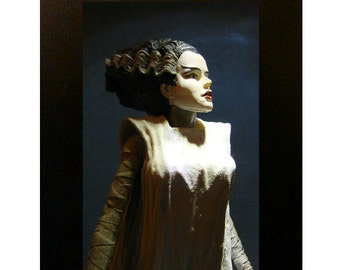 "Bride of Frankenstein Toy Photograph 4x6"" Universal Monsters"
