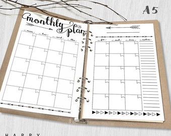 Monthly planner | Etsy