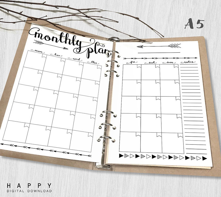Impertinent image in a5 planner printable