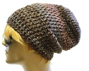 Mens Slouchy Hat Crochet Slouch Beanie Grunge Style Biker Beanie
