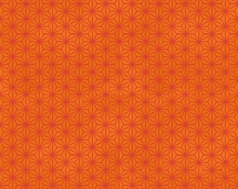 HALF YARD - STOF Fabrics - Asanoha Design Orange Colorway - Quilters Basic Harmony Collection 4520-205