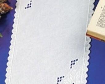 Hardanger Whitework Embroidery Table Runner Kit by Permin