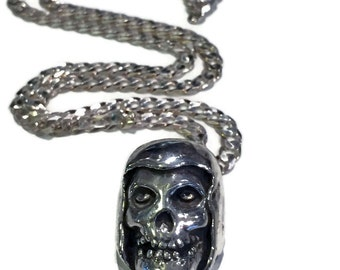 Misfit Skull Pendant on Sterling Silver Men's Chain