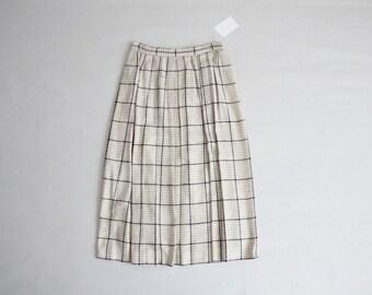 houndstooth skirt | woven silk skirt | pleated skirt