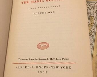 The Magic Mountain Volume 1 by Thomas Mann