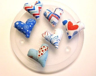 Patriotic Hearts Bowl Fillers Ornaments Independence Day Decorations