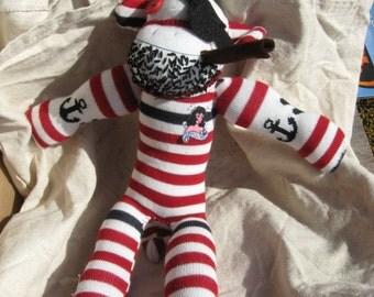 Custom pirate sock monkey