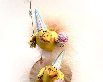 Easter | Birthday | Sculpey | Chicks | Fairy Tale | Figurine | Nursery | Easter gift | Snow cone | Figurine | Sculpey | Polymer Clay |  Egg