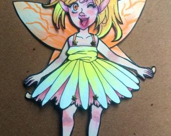 Daisy Faerie Paper Doll