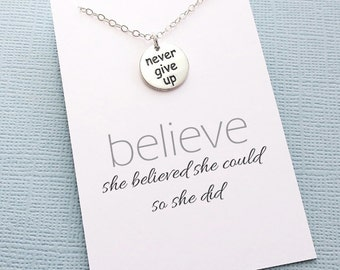 Motivational | Mantra, She Believed She Could, Inspirational, Cancer Survivor, Gift for Runner, Runner Gift, Never Give Up | W01