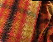 Mammoth Flannel fabric, Plaid Blanket Scarf Fabric, Red flannel, Plaid Flannel, Make Your Own Plaid Scarf Infinity, Flannel in Sunset 206