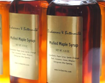 Handcrafted Mulled Maple Syrup