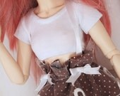BJD Doll Minifee clothes MSD Doll clothes White short sleeve Crop Top for Minfee MonstroDesigns Ready to ship
