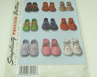 Simplicity Baby Booties Printed Pattern 2867 This Is A Copy Of The Vintage '48 Pattern