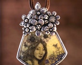 Original Scrimshaw Goddess pendant Moosup Valley designs