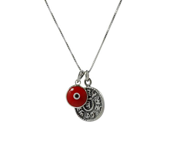Prosperity Solomon Seal & Evil Eye Charm Necklace