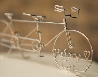 Tandem Bicycle Wedding Cake Topper