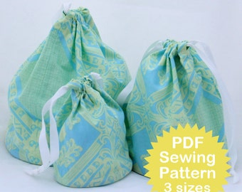 Drawstring Circle Bottom Bag Tutorial