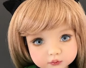 A Purrrfect Green Dress sized to fit Dianna Effner Little Darlings 13 inch dolls