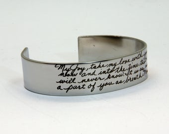 Handwriting jewelry, ACTUAL Handwriting Jewelry, Memorial Signature, Children handwriting, Memorial Jewelry, Long Distance, Anniversary gift