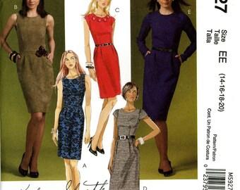 McCall's M5927 Fashion Sheath Dress Sleeve Variations Size 14 16 18 20 Uncut Sewing Pattern 2000