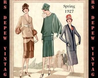 Vintage Sewing Pattern Catalog Booklet McCall Quarterly Spring 1927 PDF Digital Copy -INSTANT DOWNLOAD-