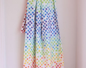 Vintage twin flat set rainbow polka dots