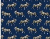 Blue Moose Pattern Gift Wrap