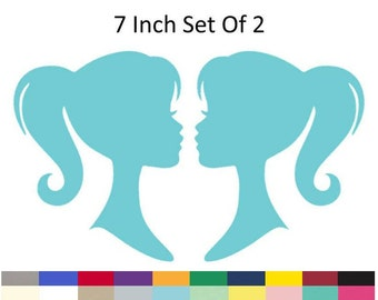 Fashion Doll Girl Silhouette Birthday Girly Glam Birthday Party Decorations Supply Die Cuts 7 inch Set of 2
