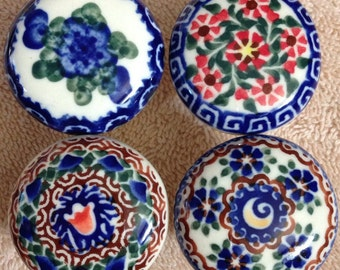 Hand Painted Ethnic Porcelain Knobs