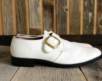 SALE White Buckle SHOES