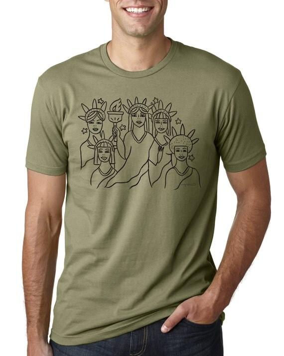 T-Shirt/Tee/Unisex/Liberty for All/Women's March/Feminist/Art