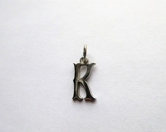 Sterling Silver K Initial Pendant
