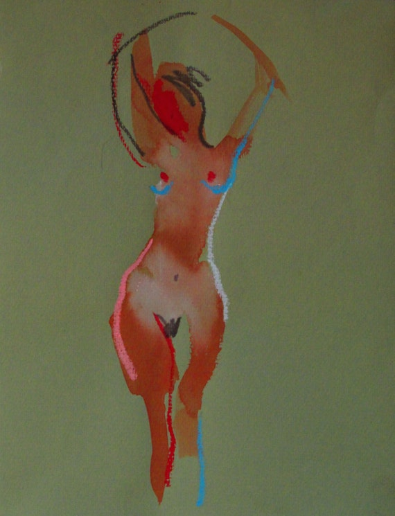 Nude painting of One minute pose 99.1 Original nude painting by Gretchen Kelly