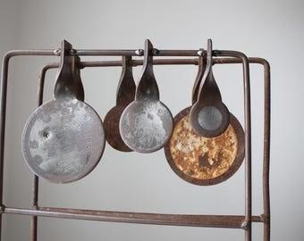 Rustic Shooting Gallery Targets, Rustic Metal Targets, Primitive Folk Art Target, Industrial Salvage, Gifts for Guys, Man Cave