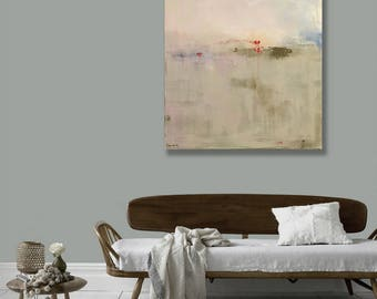 Ready to Hang Minimalist Abstract Landscape, Canvas Print, Large LandscapePrint,  Modern Art, Beige, Tan, Natural, West Elm Artist