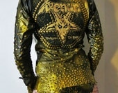 Venom Welcome To Hell Studded Leather Jacket