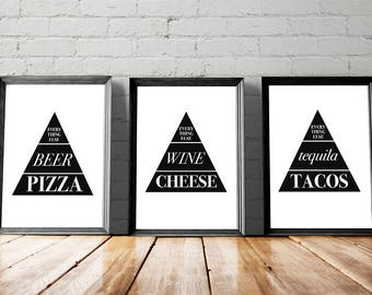 Funny Kitchen Decor, Kitchen Printables, Kitchen Wall Art, Large Wall Art, Gallery Wall Starter Pack, Gallery Wall Bundle, Funny Printables