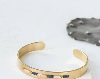 Coachella Cuff Bracelet, Delicate Cuff Bracelet, Beaded Cuff Bracelet, Beaded Bracelet, Stacking Bracelet, Stackable Bracelet, Boho Jewelry