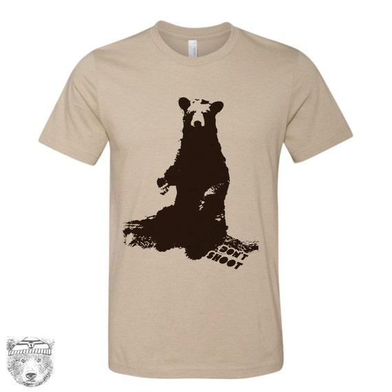 Mens BLACK BEAR (Don't Shoot) t shirt s m l xl xxl (+ Color Options)