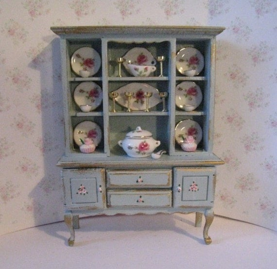 dollhouse dresser dining room dresser decoratged dresser